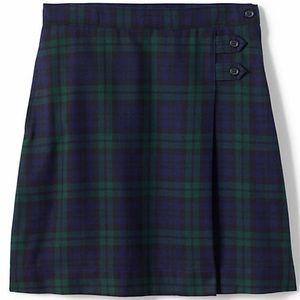 Women's Lands End Plaid A-Line Skirt